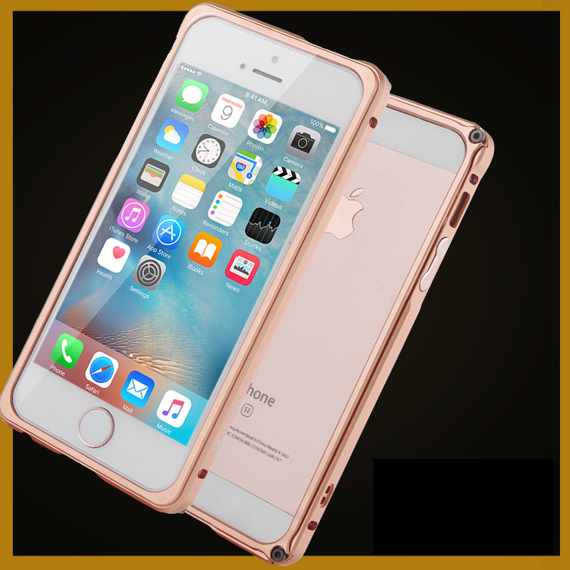 Original Brand BOBYT High Quality Luxury Aluminum Metal Bumper For Apple iphone SE 5S 5 Case Frame With Button
