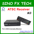 168 mm M3 ATSC TV Box full 1080 p hd ATSC receptor para eua canadá méxico coréia Costa Rica equador