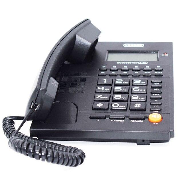 Модная большая кнопка двойной интерфейс сотовый телефон без батареи номер звонящего фиксированный телефон стационарный для Дома Офиса оте...