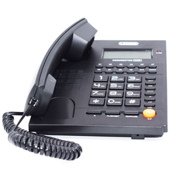 Fashion Big Button Dual Interface Cell Phone Without Battery Caller ID Fixed Telephone Landline For Home Office Hotel