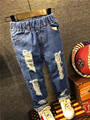 2016 Kids boys jeans pants autumn fashion designer jeans boy girl denim pants casual ripped jeans for boys 2~6yrs free shipping