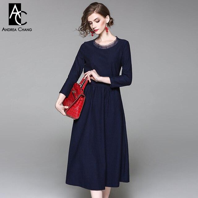 0e28f8ca4 Primavera otoño mujer vestido rosa azul oscuro vino rojo corto vestido con  cinturón fajín de gasa