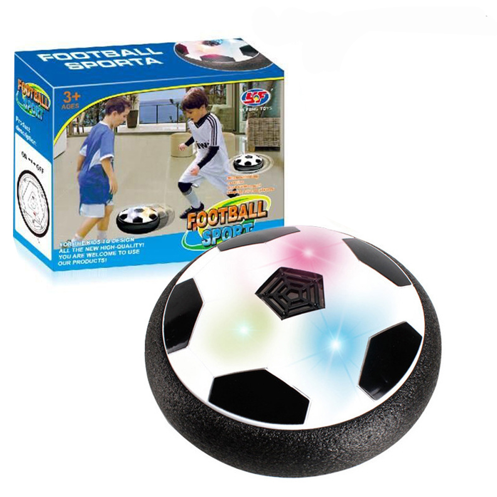 2018 new Hovering Football Game Toy Kid Chidren Gift Funny Flashing Ball Toys Air Power Soccer Balls Disc Gliding Multi-surface