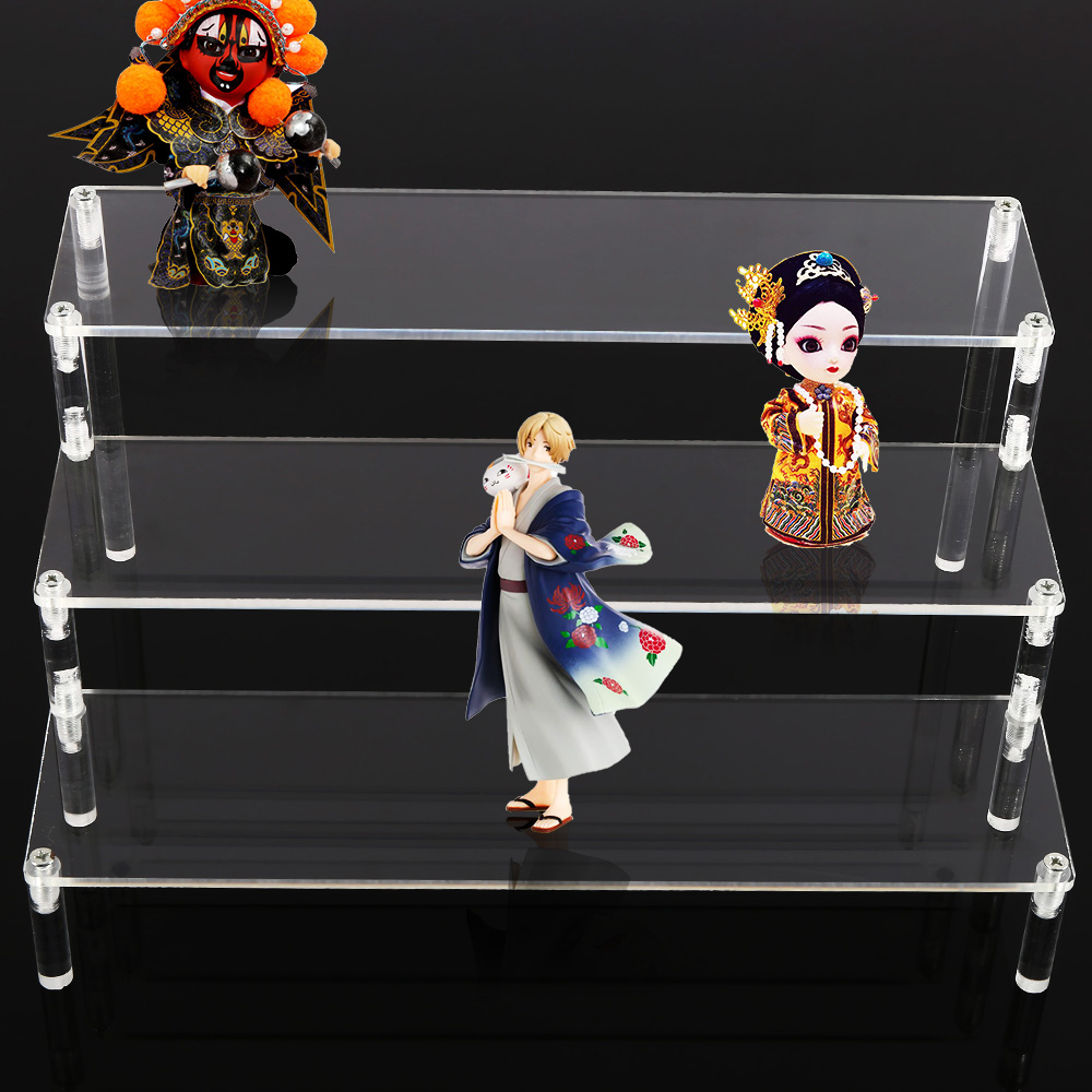 Image 2 - 3 Layer Acrylic Cosmetics Storage Rack Detachable Jewelry Sundries Holder Toys Perfume Display Stand Transparent Storage Holders-in Storage Holders & Racks from Home & Garden