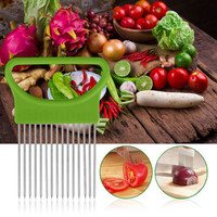 DG051101 1PC Tomato Onion Vegetable Slicer Cutting Aid Guide Holder Slicing Cutter Gadget Kitchen Tools For Protecting Finger