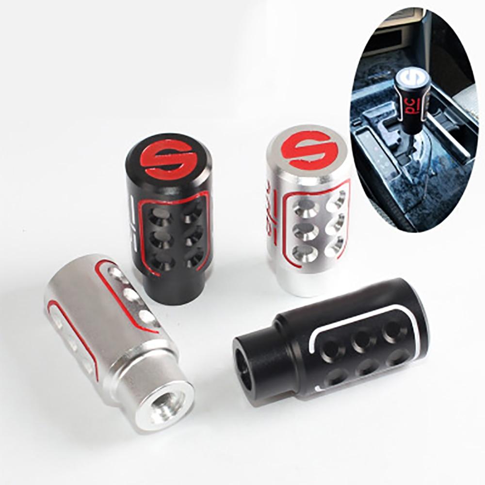 SPC Auto Manually Aluninum Head Gear Shift Knob Universal Car Interior P Parts Car Shifter Metal Gear Shifter Racing Cool