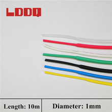 LDDQ 1mm 10m Heat Shrink Tubing Shrinkage Ratio 2:1 600&1000v Shrink Wrap Cable Sleeve  Cable Wrap Seven Colors To Choose