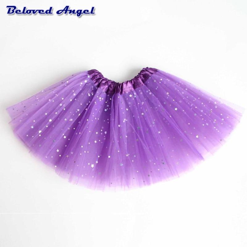 2-8Yrs Translucent Children Fluffy Pettiskirts Tutu Saias Baby Girls Skirts Princess Skirt Girls Ballet Dance Wear Party Clothes 5