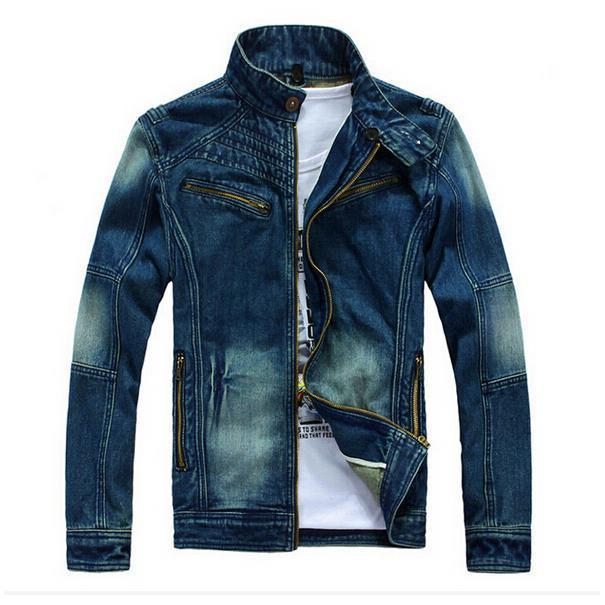 Free shipping  fashion new Korean men detachable cap tide washed denim jeans, denim jacket men jacket