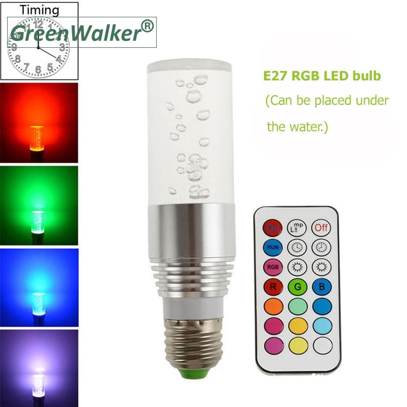2018 New 85-265V RGB Bulb lamp RGB LED Bulb E27 3W LED Lamp Light Led Spotlight Spot light 16 Color Change Dimmable Lampada light bulb 16 colors wireless remote control 85 265v e27 led 20w rgb changing light bulb h028