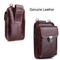 Genuine Leather Pouch Shoulder Belt Mobile Phone Case Bags For Huawei Mate RS Porsche Design,P20/P20 Pro/P20 Lite,Nova 3e/2s