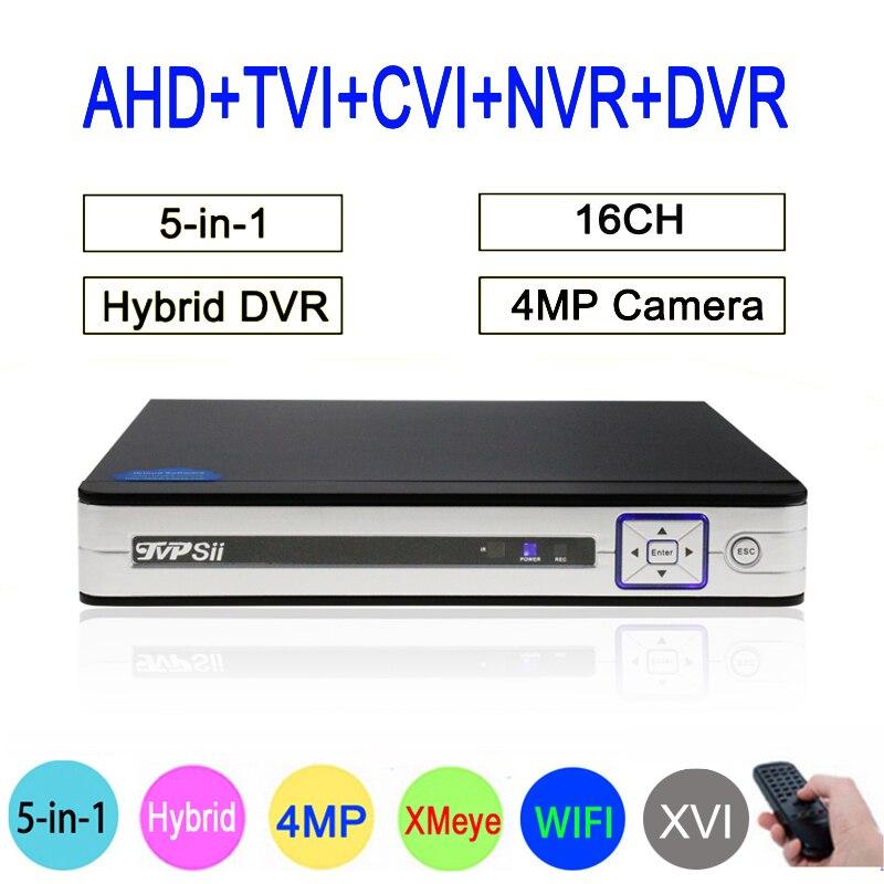 цена на 4MP Surveillance Camera HI3531A Xmeye 16CH/8CH 6 in 1 H264+ WIFI Hybrid Coaxial XVI TVi CVI IP NVR AHD CCTV DVR FreeShipping