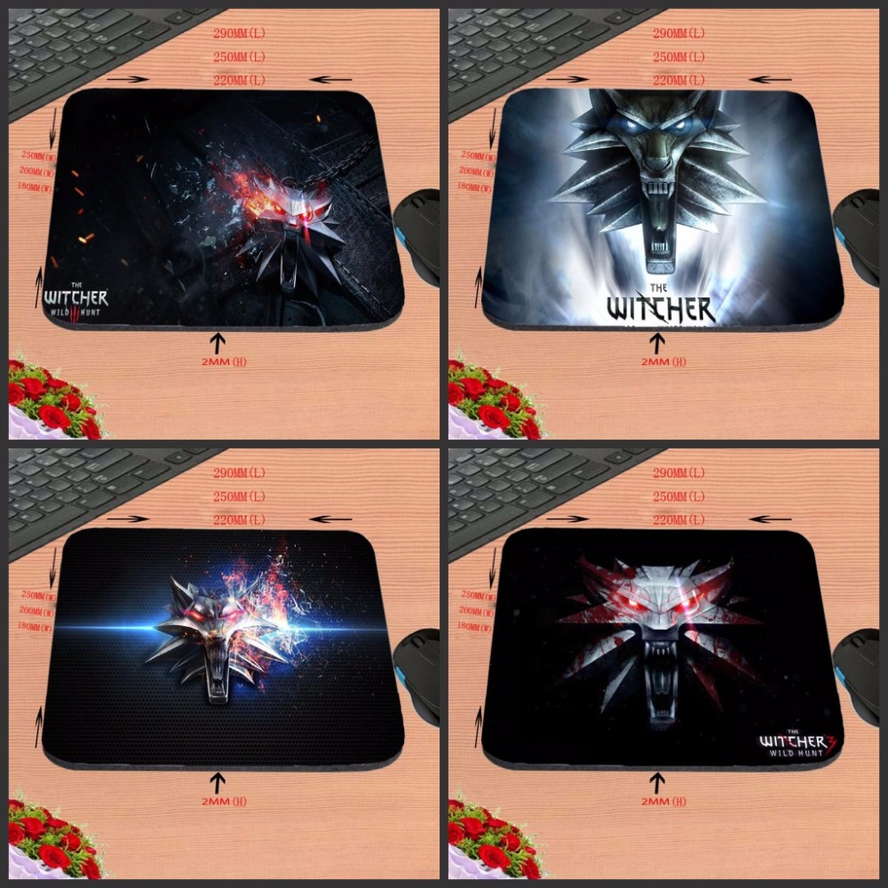 The Witcher Logo Hot Sell Print Design Anti-slip New Arrival Customized Rectangular Rubber Mouse Pad Computer PC Nice Gaming