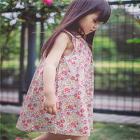 2017 New Summer Flower BP Style Baby Girl Dress Red Floral Dress Party Petticoat Infant Party