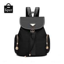2016 женщины рюкзаки для подростка девочек шнурок школьные сумки нейлон водонепроницаемый сплошной опрятный стиль рюкзак mochila