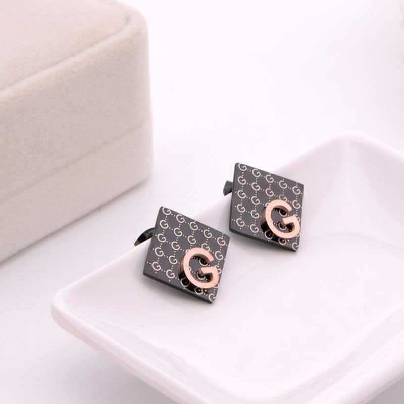 Radient Fashion Big Brand G Letter Earrings Luxury Full Letters Rose Gold Fashion Titanium Steel Hypoallergenic Earring Wedding Party Furniture