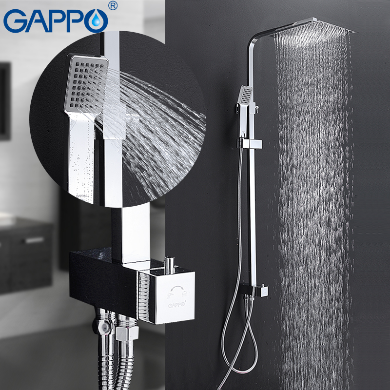 GAPPO robinets de douche cascade mur douche mélangeur robinet ensemble salle de bains pluie douche ensemble salle de bains douche mélangeurs robinet