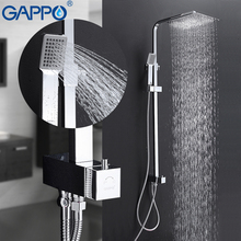 GAPPO Shower Faucets Waterfall wall shower mixer tap set bathroom rainfall shower set bathroom shower mixers Faucet golden rainfall shower faucets set brass wall mounted shower with hand shower mixer for bathroom
