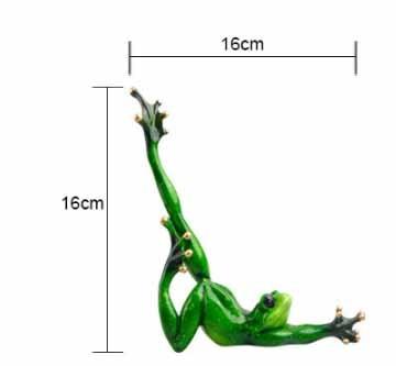 Funny Yoga Frog Figurine 4