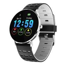 L6 Смарт-часы IP68 Водонепроницаемый Smartwatch 1,22 дюймов Bluetooth 4,0 интеллигентая(ый) динамический монитор сердечного ритма светодиодный браслет
