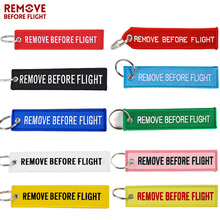 Remove Before Flight KeyChain Colorful Embroidery Key Chain OEM Ring Jewelry Aviation label for For Man Women Fashion Gift
