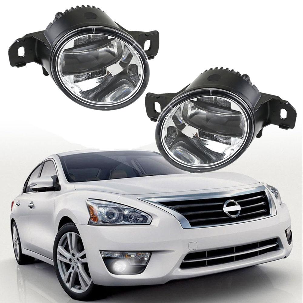 Couleur blanche de phare antibrouillard de voiture de Pathfinder de lentille de PC élevé LED pour Nissan Rogue Altima Sentra Maxima Versa