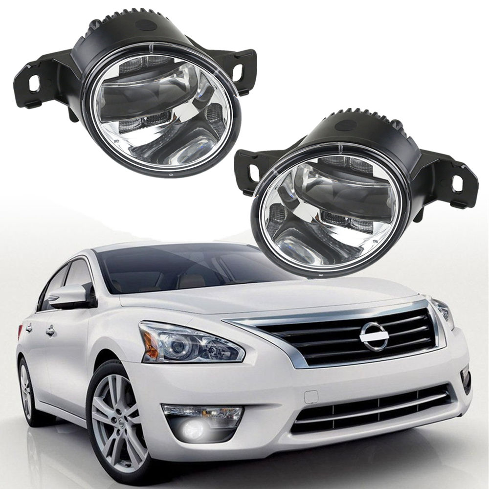 High PC Lens LED Fog Lights For Nissan Rogue Altima Sentra Maxima Versa Pathfinder Car Fog Lamp White color with amber turningHigh PC Lens LED Fog Lights For Nissan Rogue Altima Sentra Maxima Versa Pathfinder Car Fog Lamp White color with amber turning