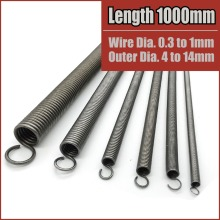 extension springs expansion tension 1000mm 39 inch long Wire Dia 0.3mm to 1mm Outer Dia 4mm to 14mm extended extending