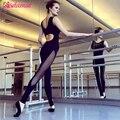 Moda Flaco Gimnasio Mono Atractivo de Las Mujeres Elasticidad Mesh Patchwork Bodycon Jumpsuit Volver Recortable Apretado Mono Guardapolvos Delgados