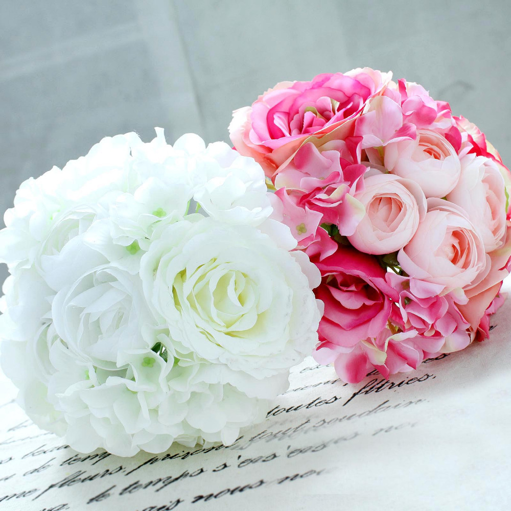22 Heads Silk Real Touch Peony And Rose Large Artificial Flowers