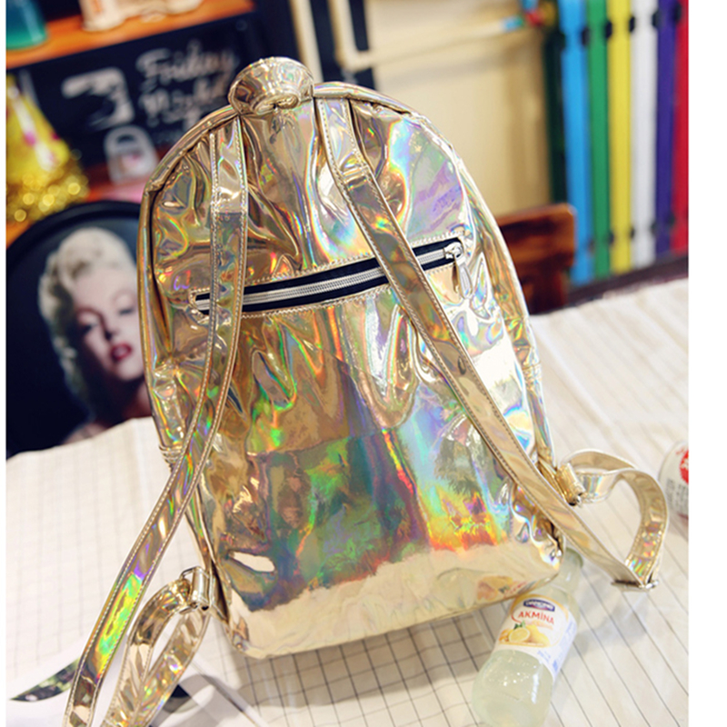 New Autumn Korean Style Women Backpack Bright Surface PU Leather Travel Bag Fashion Solid Color Shoulders Bag 2017 new korean man pu leather backpack male new style junior middle school students leisure travel backpack fashion bag