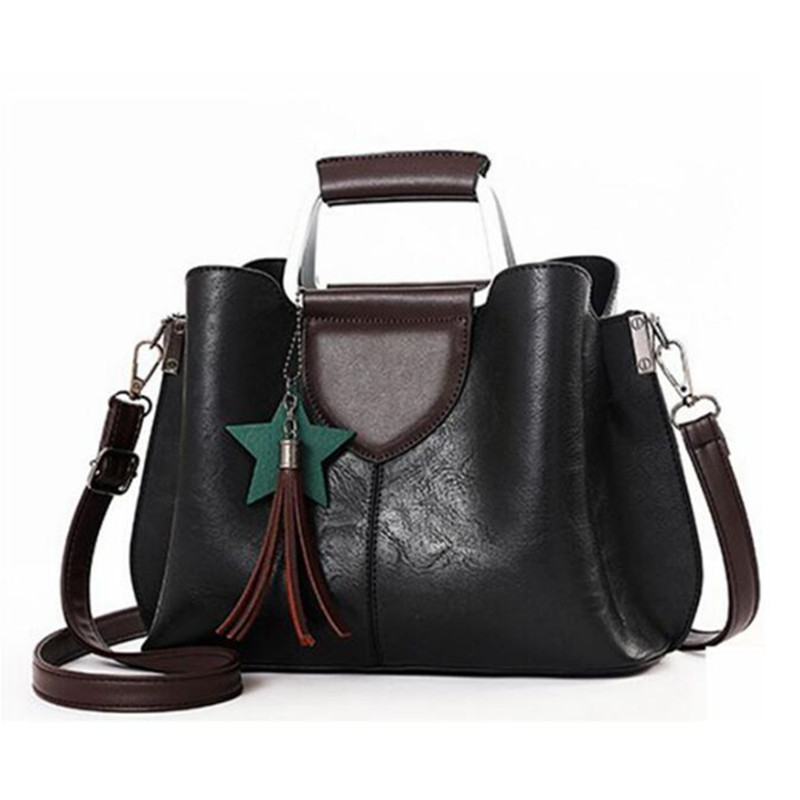цены на New Fashion Women Messenger Bags PU Leather Women's Shoulder Bag Crossbody Bags Casual Famous Brand Black Ladies Handbags Tote в интернет-магазинах