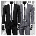 Wholesale free shipping Spring camiseta masculina 2016 Korean mens business suits slim casual two piece set wedding dress suits