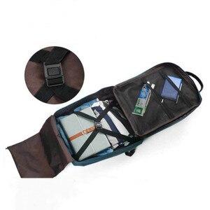 Image 5 - حقيبة سفر بسعة كبيرة للأمتعة منظم التعبئة للرجال والنساء حقيبة يد محمولة مضادة للماء حقيبة أمتعة