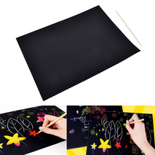 Painting-Set Magic-Scratch Colorful Baby-Playing-Toys Art Kids A4 Paper with Sheets