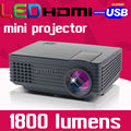 2016 Cinema New Portable HD HDMI TV Tuner Pico Micro Digital USB Home Theater mini LED LCD Video Projector Proyector Beamer