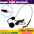 3.5mm Screw Thread Plug Connector Headworn Earhook Headset Microphone Condenser Mic Microfone For Wireless Bodypack Transmitter