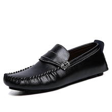 Весна осень новая Мода Мужчины Обувь Высокого Качества Из Натуральной Кожи Повседневная Обувь Мокасины Квартиры Мягкой Подошвой дышащие вождения Обувь