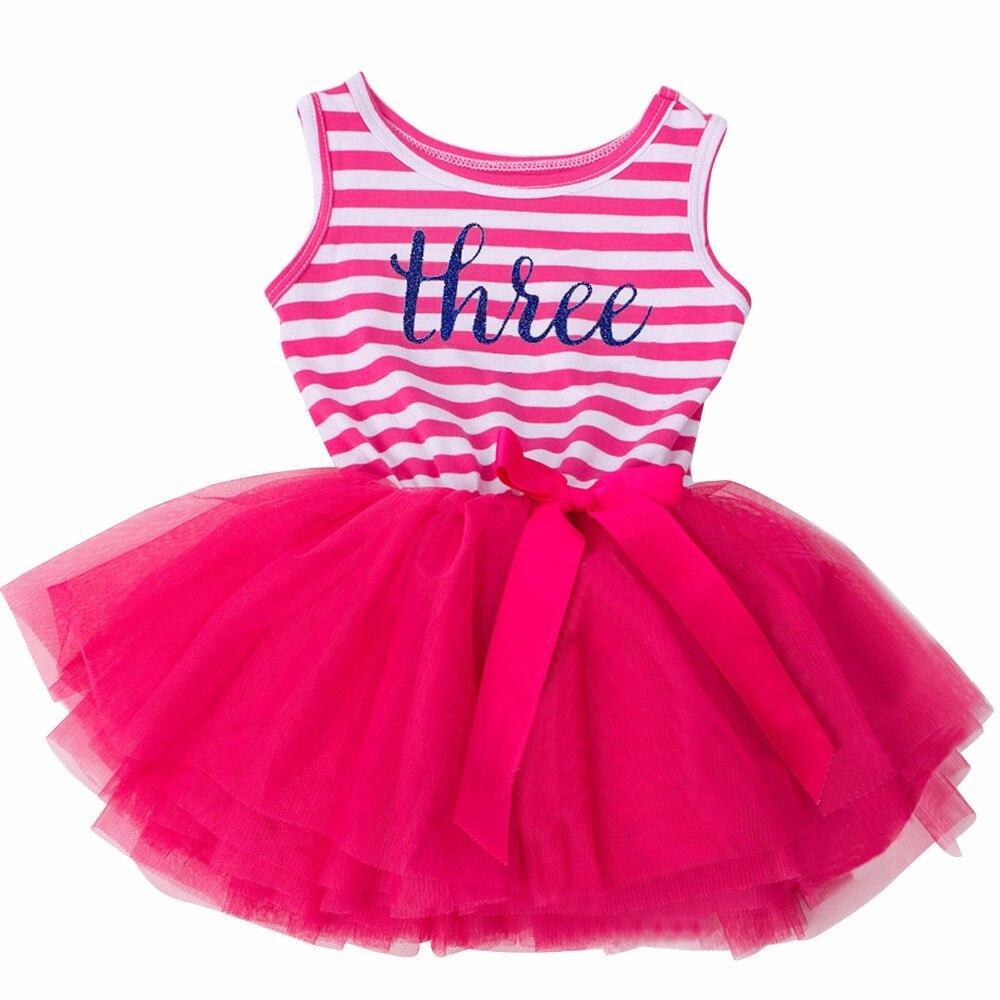 ᗑVestido del bebé del verano letra Niñas ropa para bebé 1-3yrs ...