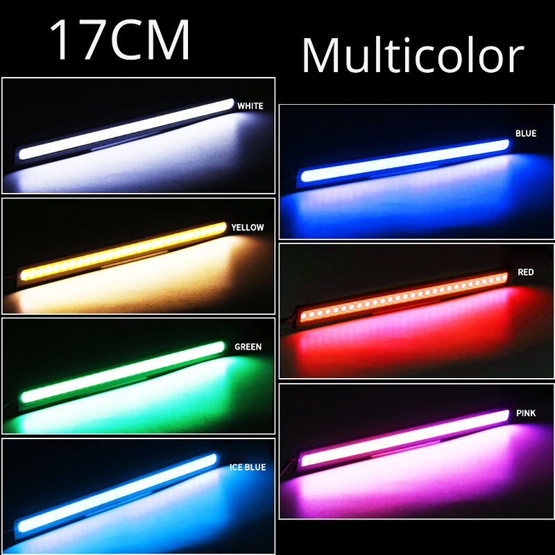 17cm Universal Daytime Running Light Car COB DRL LED Strip Light External Lights Auto Waterproof Car Styling Led DRL Lamp