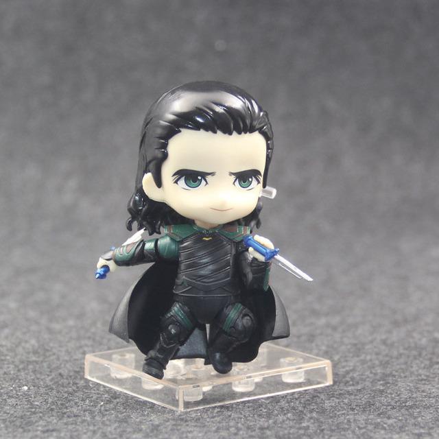 Avengers Thor Ragnarok Loki Nendoroid Action Figures Q Ver 866 Nendoroid Figurine Model Toys 10cm Avengers Endgame