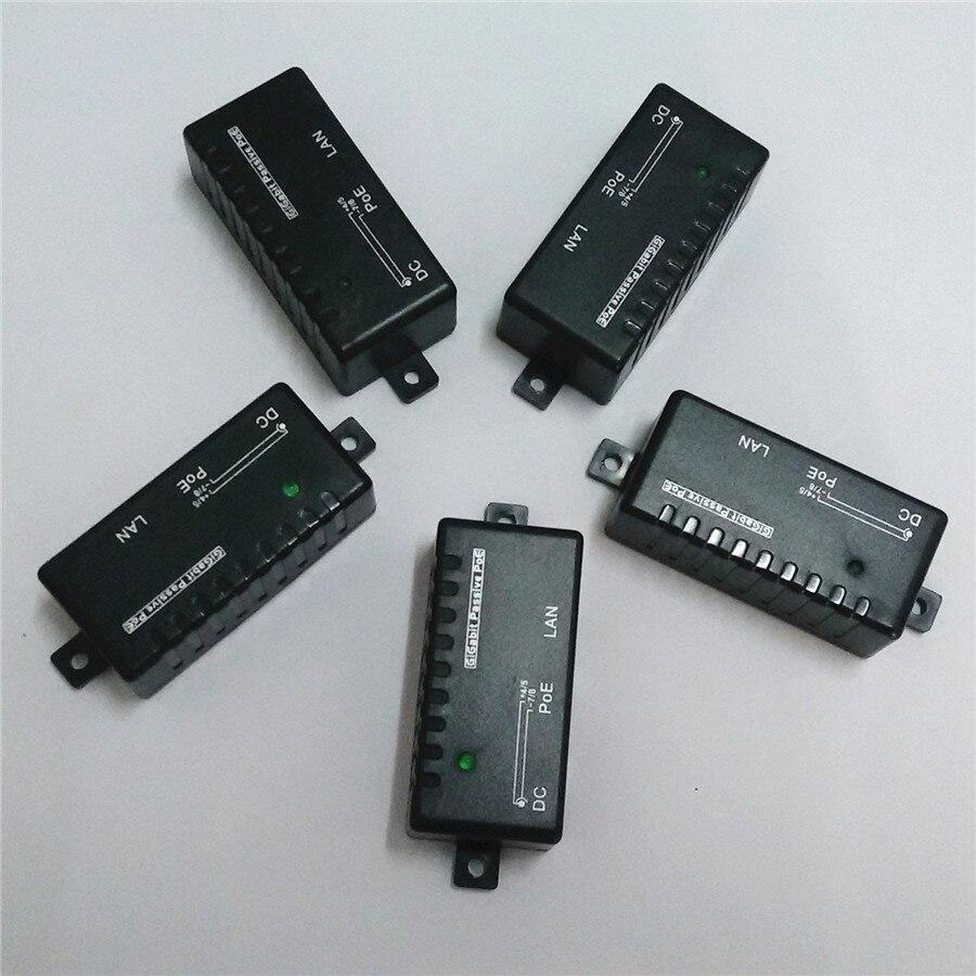 5pcs lot gigabit simple passive poe injector spliter kit set wall mount for cctv