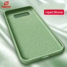 Hacrin Liquid Silicone Case For Samsung S10 Anti-Drop Soft Bumper Cover for Galaxy Plus Phone