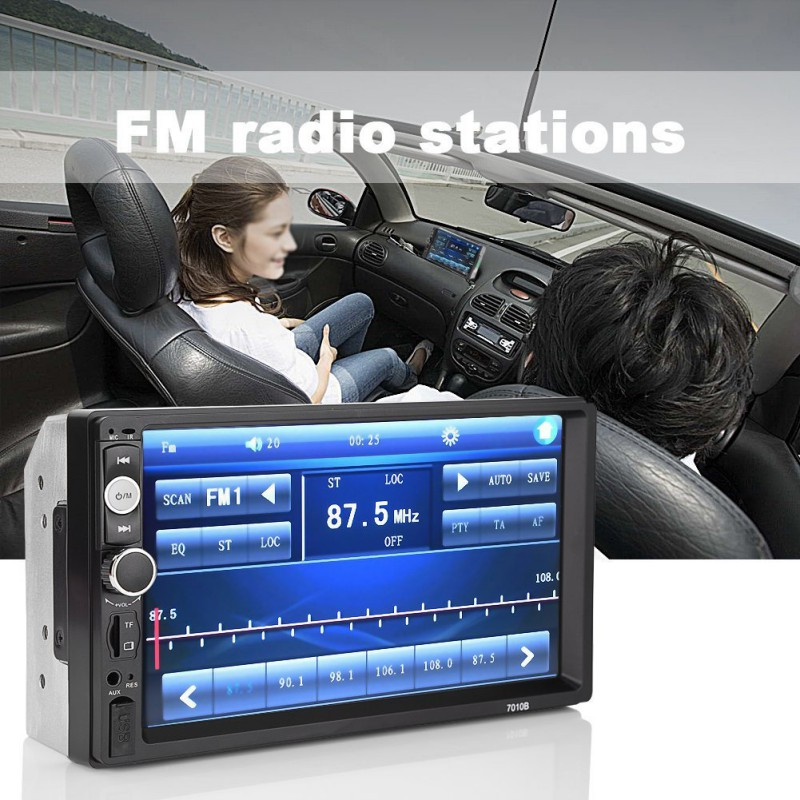 7010B 2 din reproductor Multimedia Audio radio estéreo pantalla táctil pantalla Digital Bluetooth USB FM Autoradio 7