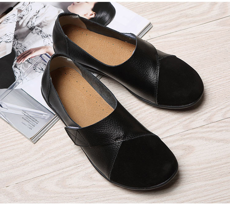 AH 1987-2019 Spring Autumn Women's Shoes Genuine Leather Woman Loafers-7