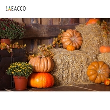 Laeacco Country Rural Pumpkin Farm Haystack Interior Baby Girl Portrait Family Photography Backgrounds Photographic Backdrops