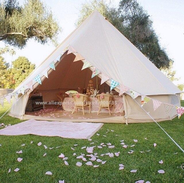 Outdoor Waterproof Diameter 4m Bell Tent Four Seasons Sibley Gl&ing Tent & Outdoor Waterproof Diameter 4m Bell Tent Four Seasons Sibley ...