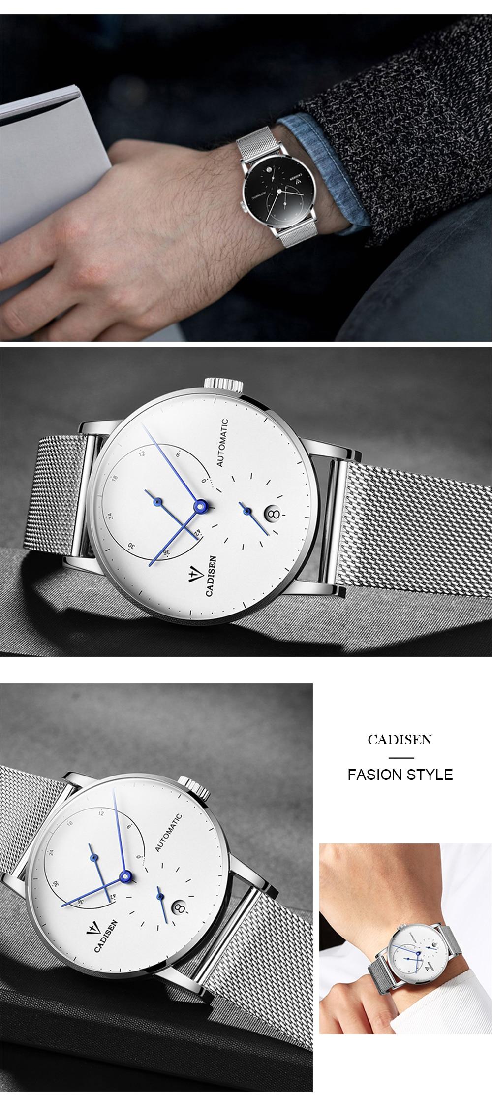 HTB1iAZdD1GSBuNjSspbq6AiipXaY CADISEN Top Mens Watches Top Brand Luxury Automatic Mechanical Watch Men Full Steel Business Waterproof Fashion Sport Watches