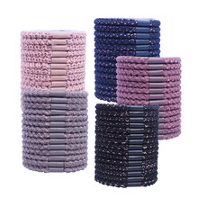 10pcs Woven Hair Bands Styling Accessories Elastic Hair Holder Rope Ties for Girls Women Hairband Color Rubber Bands Scrunchy 5pc lot simple elegant hair accessories for girls women pearl multilayer elastic hair bands tie rope rubber bands women hairband