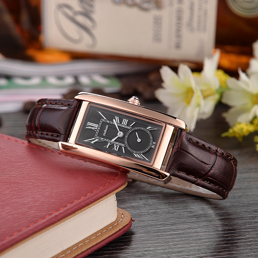 Distinguished new business simple quartz watch water-resistant rectangular watch fashion ladies watch leather strap цена и фото
